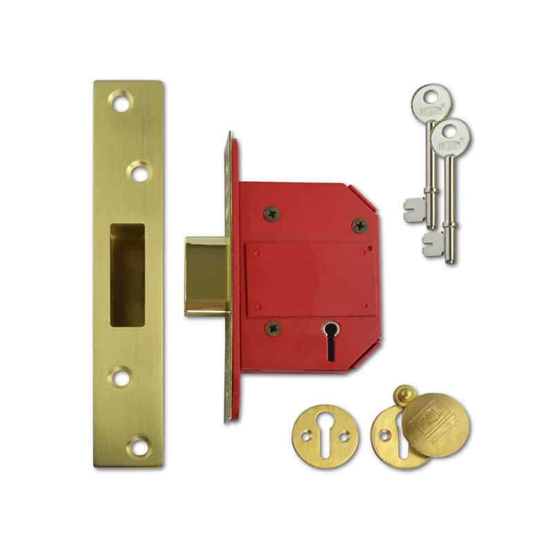 UNION J2100S Strongbolt BS 5 Lever Deadlock 64mm PL KD Boxed