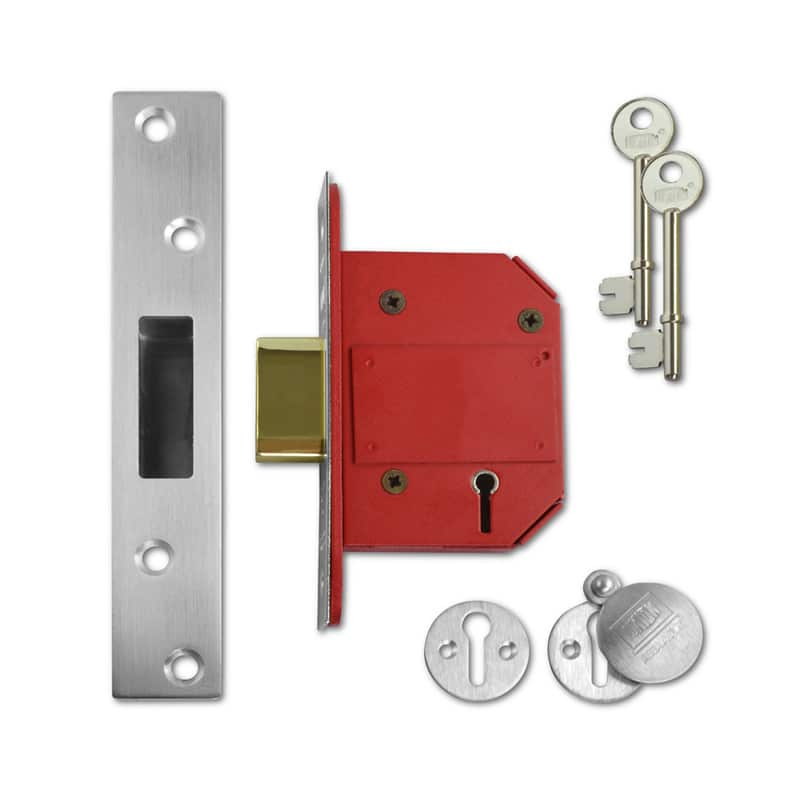 UNION J2100S Strongbolt BS 5 Lever Deadlock 64mm SC KD Boxed