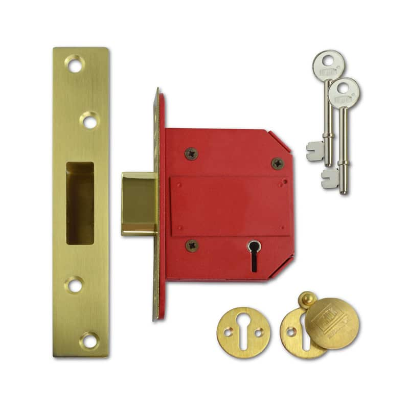 UNION J2100S Strongbolt BS 5 Lever Deadlock 75mm PL KD Boxed