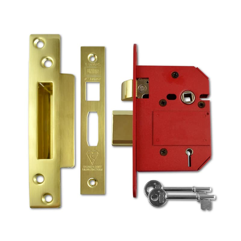 UNION J2200 Strongbolt BS 5 Lever Sashlock 75mm PL KD Boxed