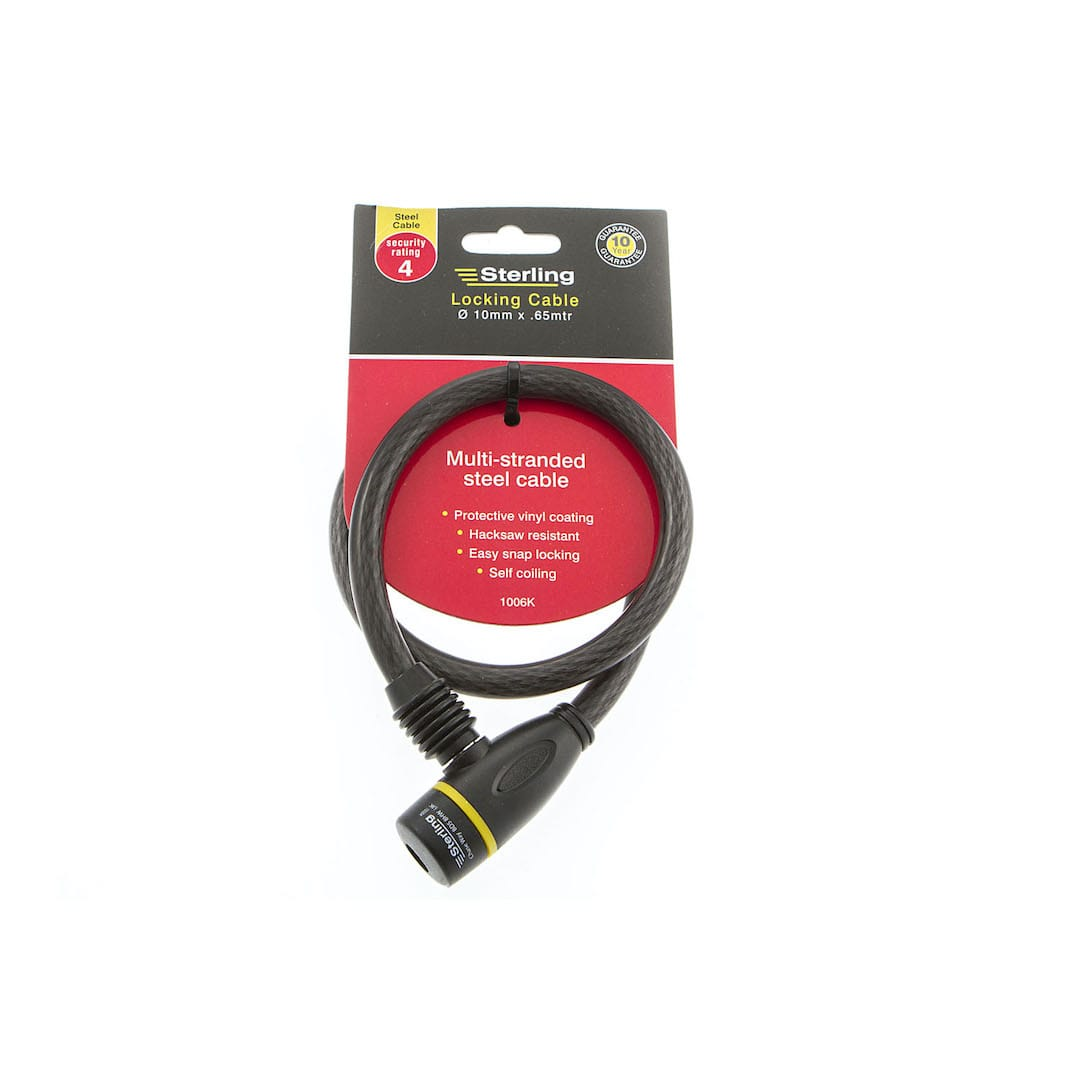 10mm x 0.65m Locking Cable