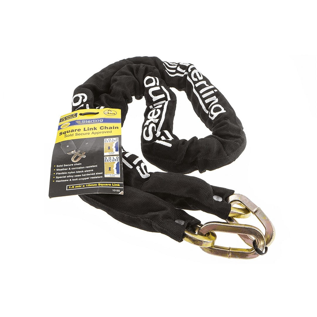 10mm x 1.5m Chain & C:S Steel Padlock