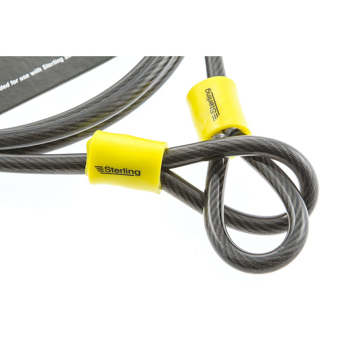 8mm x 2.5m Double Loop Steel Cable