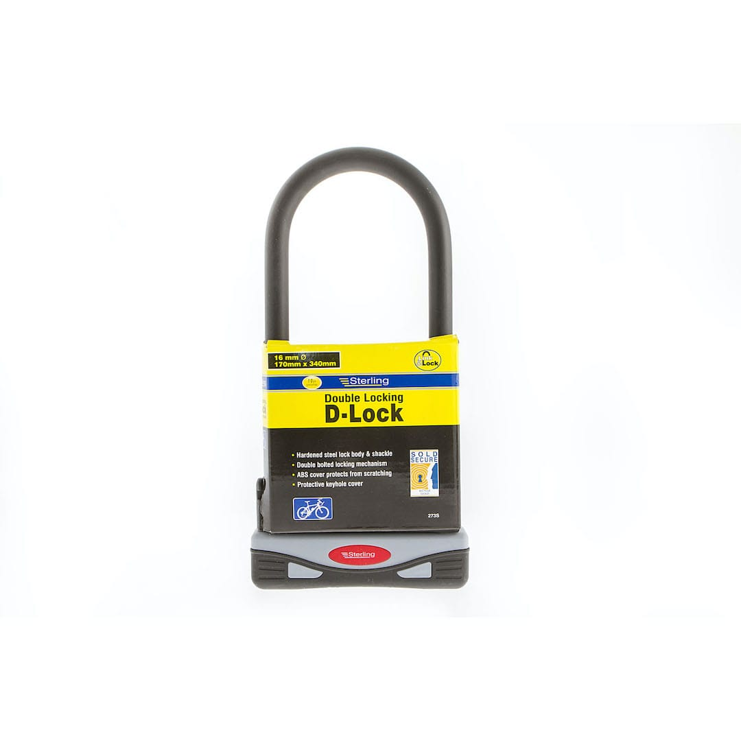 170x340x18mm Sold Secure - Gold D Lock