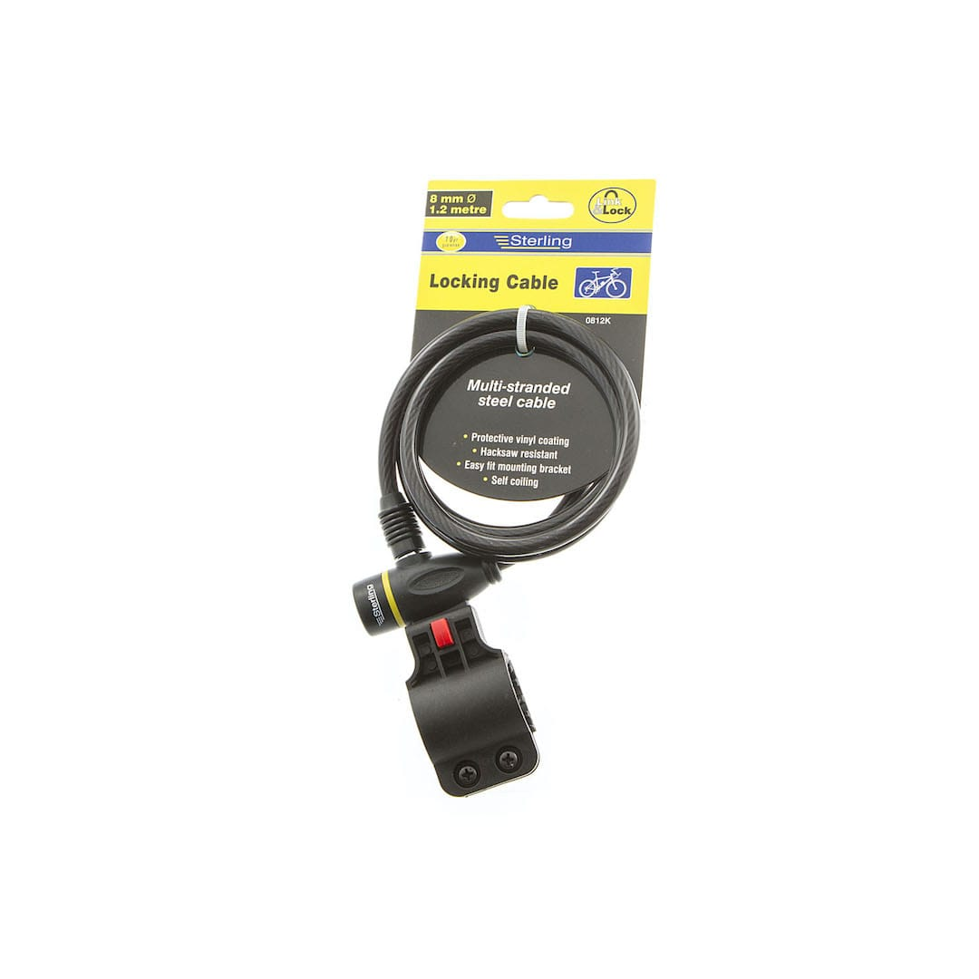 8mm x 1.2m Locking Cable